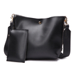 Black Pu Leather Lace Up Shoulder/Tote Dual Function Bag