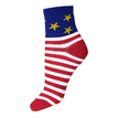 Ankle Socks With Star Stripe Print