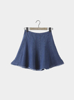 Cutoff Denim Skirt