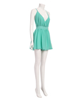 Mint Plunge V-neck Crisscross Back Cami Playsuit