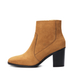 Brown Suede Chunky Heels Ankle Boots
