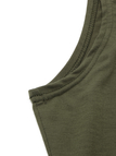 Armygreen Sleeveless High Neck Knit Bodycon Dress
