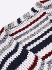 Red Stripe Patch Pockets Long Sleeves Cardigans