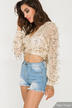 Sequined Long sleeves Crop Top