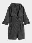 Black Trench Coat with Hood