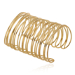 Gold-Tone Caged Open Cuff Bracelet