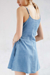 Light Blue V-neck Sleeveless Mini Dress