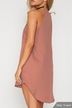 Pink Simple Sleeveless Mini Dress