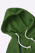 Army Green Side Pockets Design A Line Hoodie Dress