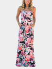 Sexy Off Shoulder Random Floral Print Maxi Dress