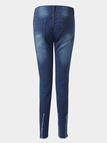 Blue Ripped Details Middle-waisted Jeans