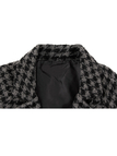 Houndstooth Pattern Duster Coat with Twin Large Pocket