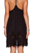 Black Hollow Out Cami Dress with Open Back