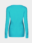 Fashion Navy Blue Pullover Hollow Out Sweater