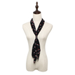 Lipstick Pattern Pleated Lightweight Scarf in Black