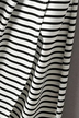 Wrap Front Stripe Pattern Random Knot Direction Irregular Hem Midi Dress