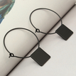Black Fashion Square Earrings