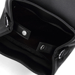 Leather-Look Mini Backpack in All Black