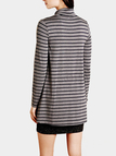 High Neck Mini Dress in Stripe