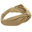 Knot Stretch Headband in Coffee