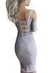 Sexy Cold Shoulder Backless Bodycon Dress