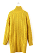 Longline Cable Knit Sweater in Yellow