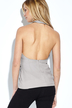 See-through Halter Sleeveless Wrap Front Open Blouse