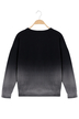 Black Gradient Long Sleeves Round Neck Couples Sweatshirt