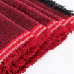 Wine Red Tasseled Edges Scarf