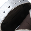 Sliver Leather-look Backpack with Rivet Design