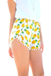 Pineapple Shorts With Pom Pom Detail