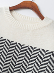 High-low Hem Zigzag Sweater