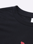 Black Crew Neck Letter Print T-shirt