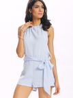 Halter Tie PLaysuit with Cut Out Detail