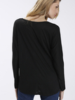 Black Loose Women Casual Blouse