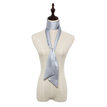 Silky-look Skinny Long Scarf in Silver Grey