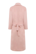 Pink Wide Lapel Pocket Duster Coat