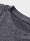 Grey Knitting Flounced Details Long Sleeves Sweaters