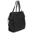 Black Shoulder Bag with Drawstring Closure