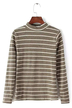 Khaki Top With Stripe and Long Sleeves