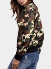 Green Camouflage Long Sleeves Jacket