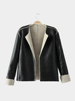 Artificial Shearling Leather Look Jacket
