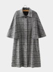 Checked Cape Coat