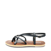 Black Simple Strappy Flat Sandals