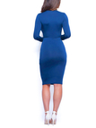 Sexy Bodycon Dress in Blue