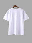 White T-Shirt With Express Your Elf Print