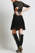 Black Lace Skate Dress