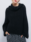 Black Turtleneck Chunky Oversized Knit Jumper