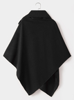 Black Lapel Collar Sleeveless Cape