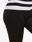 Active Stitching Quick Drying High Waisted Leggings in Black